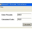 Renault PreCode code calculator