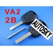 citroen remote key shell 2 button (without groove)