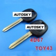 toyota transponder key ID4D(67) TOY43
