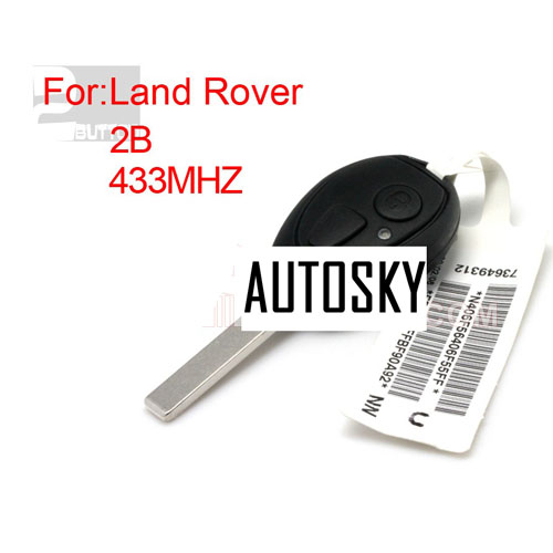 landcover,mini,MG7 ,two button remote key433MHZ(with code)