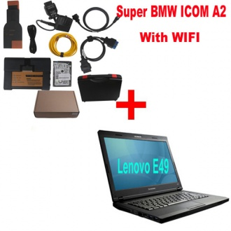 Super BMW ICOM A2 With Latest software 2016.07 Engineers Version Plus Lenovo E49 Laptop with WIFI