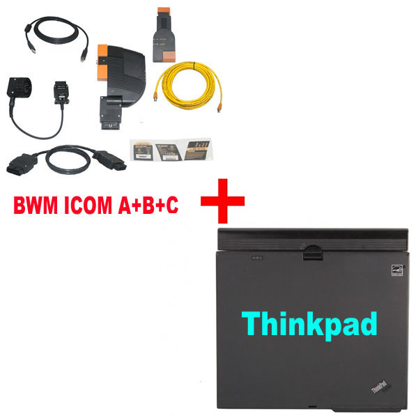BMW ICOM A+B+C With Latest software 2018.12 Engineers Version Plus ThinkPad X61 Laptop