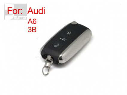 Audi A6 old style modified flip remote key shell(MOQ 10pcs)