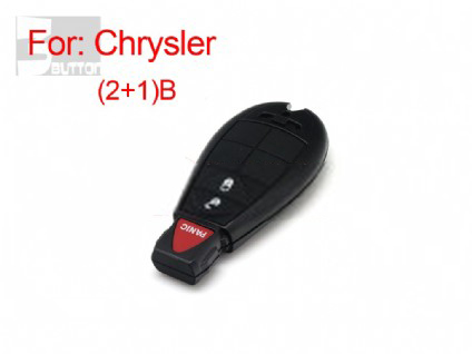 Chrysler smart key shell 2+1 button