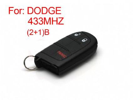 DODGE remote key 2+1 button 433MHZ