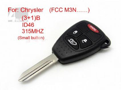Chrysler remote key 3+1 button ID 46 315MHZ FCC M3N (Small button)