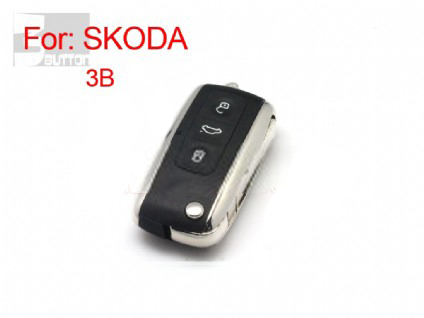 vw skoda modifiled flip remote key shell 3 button(MOQ 10pcs)