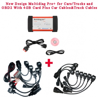 New Design Multidiag Pro+ V2015.03 for Cars/Trucks and OBD2 with All cables(car&truck)