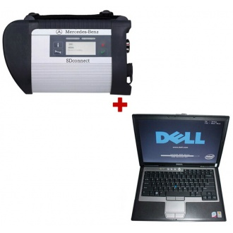 MB SD Connect C4 Star Diagnosis Tool 2017.3 Plus Dell D630 Laptop