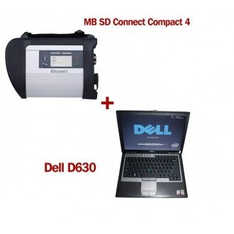 V2018.07 MB SD Connect Compact 4 Star Diagnosis with DELL D630 Laptop 4GB Memory Support Offline Programming