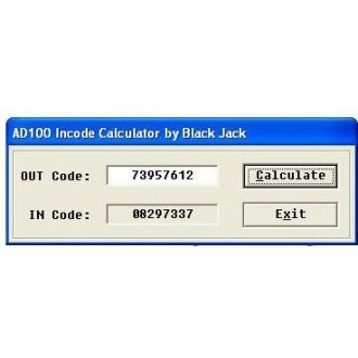 AD100/T300/SBB/MVP Incode Outcode Calculator