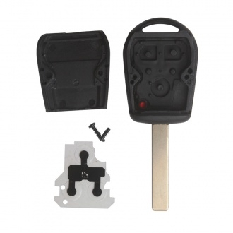 Transponder Key Shell 3-button 2 Track  for BMW 10pcs/lot