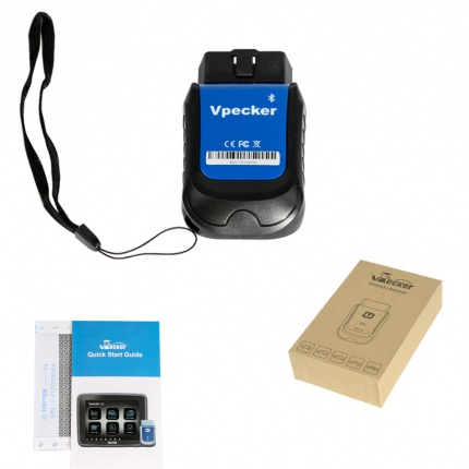 VPECKER E4 Easydiag Bluetooth Full System OBDII Scan Tool for Android Support ABS Bleeding/Battery/DPF/EPB/Injector/Oil