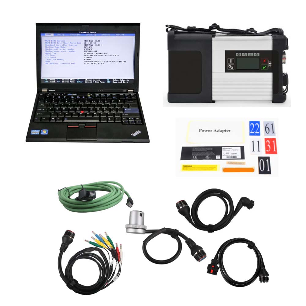 V2019.12 MB SD Connect C4/C5 Star Diagnosis Plus Lenovo X220 I5 4G Laptop With HHT,Vediamo and DTS Engineering Software