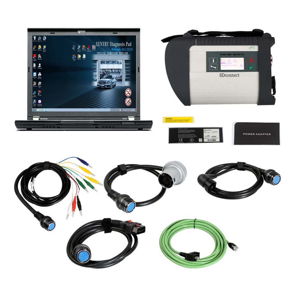 MB SD Connect C4 Star Diagnosis Plus Lenovo X230 Laptop With Vediamo and DTS for V2019.09