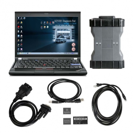 V2020.03 MB STAR C6 Benz Xentry diagnosis VCI DOIP &AUDIO Mercedes BENZ C6 Diagnosis tool PLUS lenovo X220 Laptop