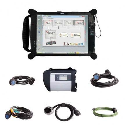 V2021.03 MB SD C4 Star Diagnostic Tool With Vediamo V05.01.01 Development and Engineering Software Plus EVG7 Tablet PC S