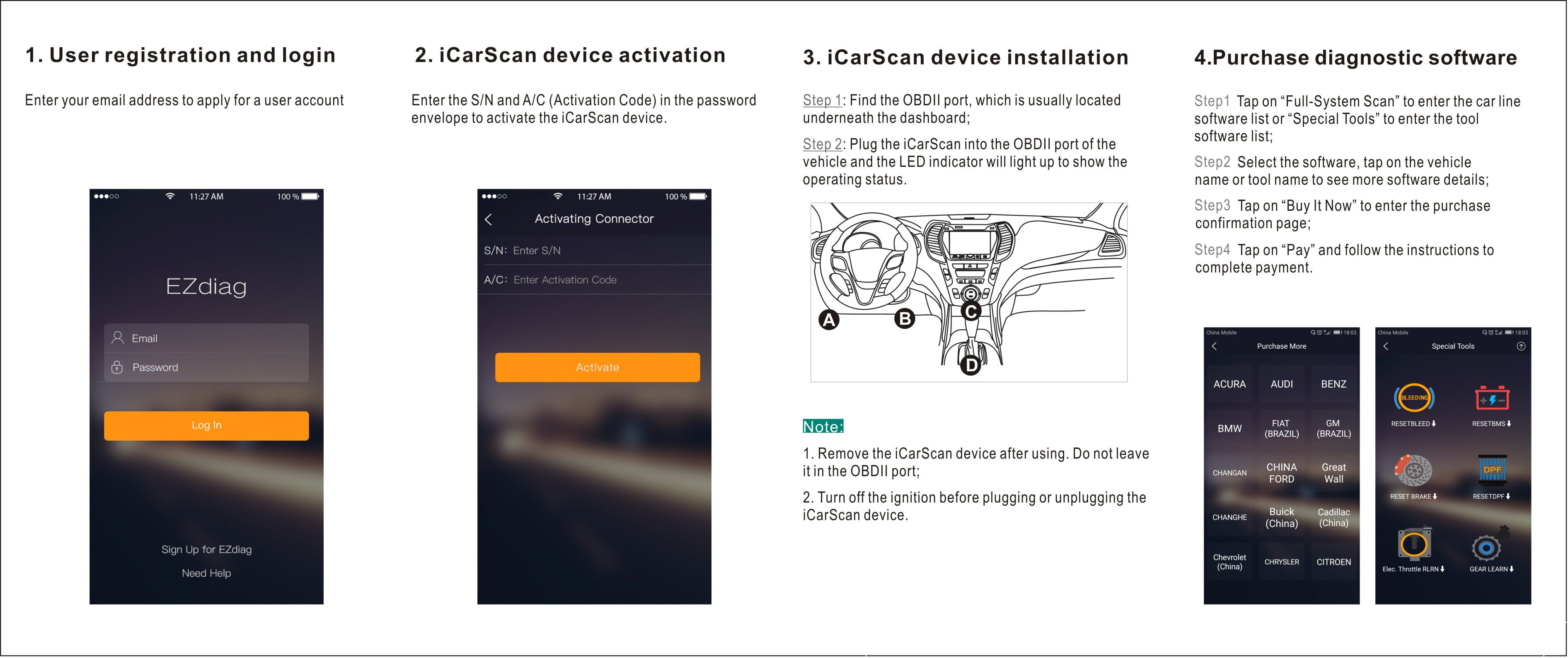 Launch ICarScan Full Systems Diagnostic Tool Bluetooth